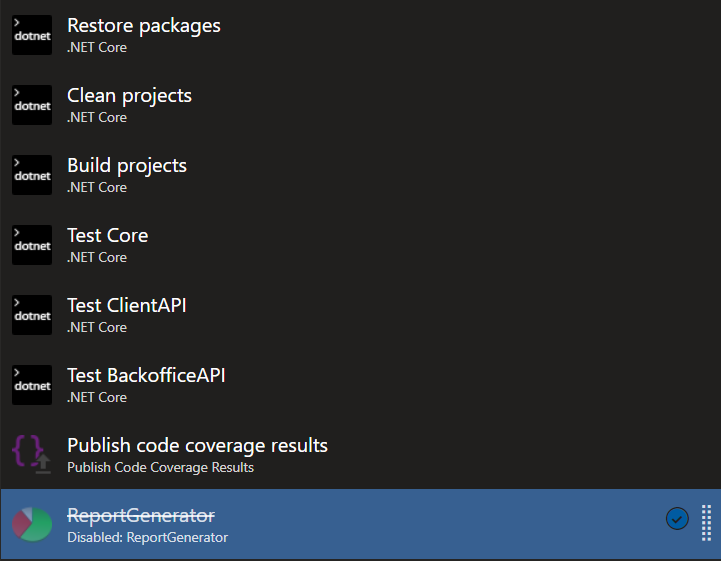 Code coverage for  NET Core projects with async methods is